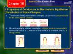4 properties of conductors in electrostatic equilibrium distribution of static charges1