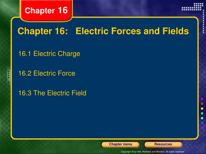 chapter 16 electric forces and fields n.