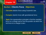 section 2 electric force objectives
