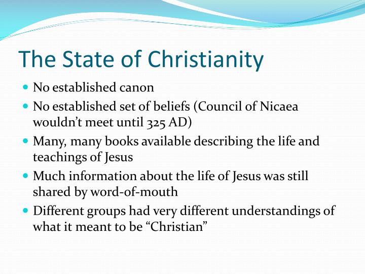 The State of Christianity
