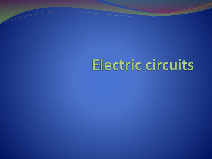 electric circuits n.