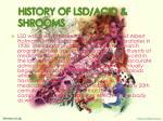 history of lsd acid shrooms