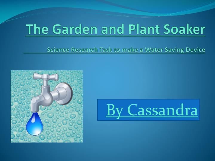 the garden and plant soaker science research task to make a water saving device n.