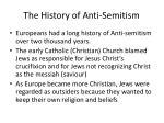 the history of anti semitism