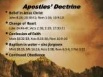 apostles doctrine
