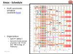 xmas schedule