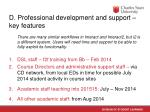 d professional development and support key features