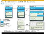 n ew bi 4 0 installation for sap bw customers