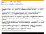 upgrade to bw 7 30 abap