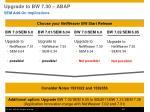 upgrade to bw 7 30 abap2