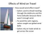 effects of wind on travel