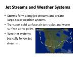 jet streams and weather systems