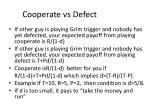 cooperate vs defect