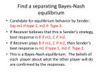 find a separating bayes nash equilibrium