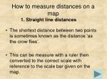 how to measure distances on a map