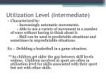 utilization level intermediate