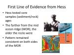 first line of evidence from hess