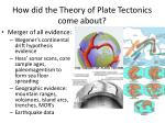 how did the theory of plate tectonics come about