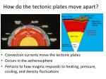 how do the tectonic plates move apart