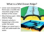 what is a mid ocean ridge