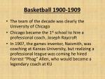 basketball 1900 19091