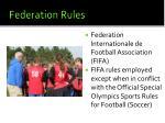 federation rules