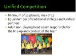 unified competition