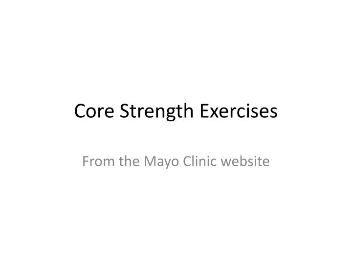 core strength exercises n.