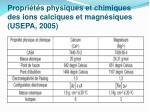 propri t s physiques et chimiques des ions calciques et magn siques usepa 2005
