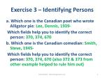 exercise 3 identifying persons