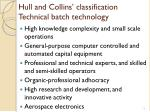 hull and collins classification technical batch technology