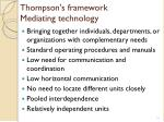 thompson s framework mediating technology