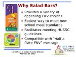 why salad bars