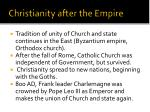 christianity after the empire