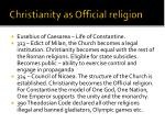 christianity as official religion