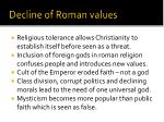 decline of roman values