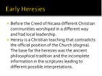 early heresies