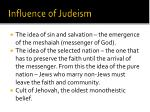 influence of judeism