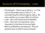 sources of christianity cont
