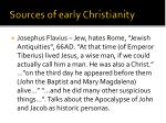 sources of early christianity