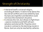 strength of christianity