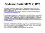 evidence basis stem in ost1