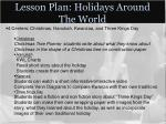 lesson plan holidays around the world