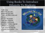 using books to introduce ethnicity to students