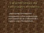 caracter sticas da cultura p s moderna