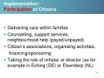 implementation participation of citizens