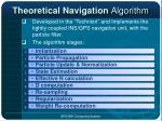 theoretical navigation algorithm