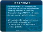 timing analysis