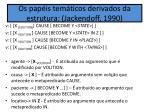 os pap is tem ticos derivados da estrutura jackendoff 1990