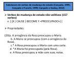 subclasses de verbos de mudan a de estado can ado 1995 can ado e franchi 1999 can ado e godoy 2012